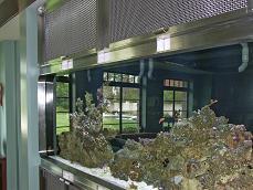 custom stainless steel frame for aquarium in private residence