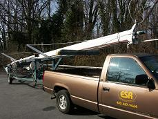 mast on trailer