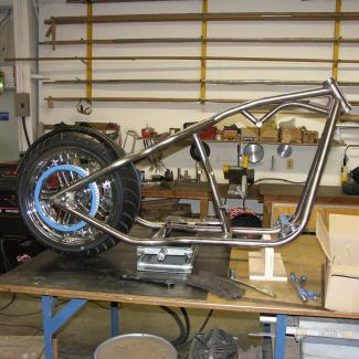custom motorcycle frame