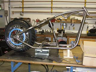 custom frame for chopper bike
