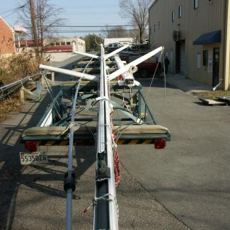 sailboat right on trailer