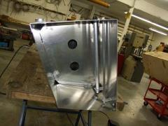 fuel tank during fabrication